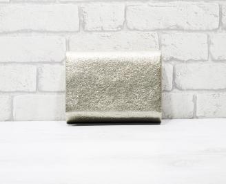 Абитуриентска чанта еко кожа/златист