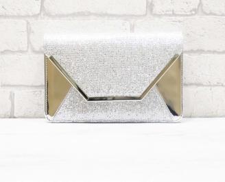 Абитуриентска чанта еко кожа/брокат сребриста HJZD-26607