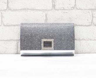 Абитуриентска чанта еко лак/брокат сребриста RXSO-26615