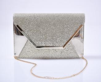 Абитуриентска чанта еко лак златиста DHYJ-26618