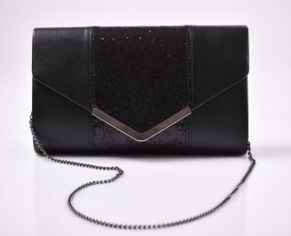 Абитуриентска чанта еко кожа/брокат черна NMNQ-26625