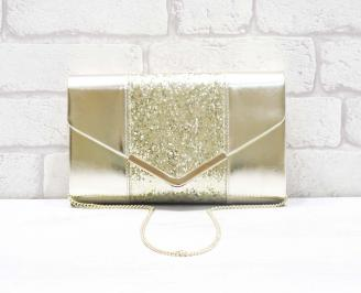 Абитуриентска чанта еко кожа/брокат златиста UDMP-26645