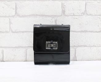 Абитуриентска чанта еко лак черна PFIQ-26650