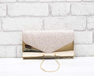 Абитуриентска чанта еко лак/брокат златиста ROFP-26651