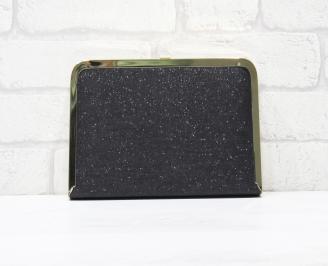 Абитуриентска чанта сатен/брокат черна OVUA-25762