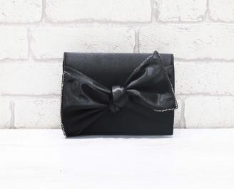 Абитуриентска чанта сатен черна ABBS-26610