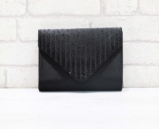 Абитуриентска чанта сатен черна JROJ-26611