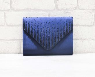 Абитуриентска чанта сатен синя JZGS-26613