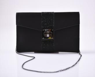 Абитуриентска чанта сатен черна ZLNK-26614