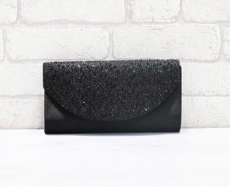 Абитуриентска чанта сатен черна SCZM-26616