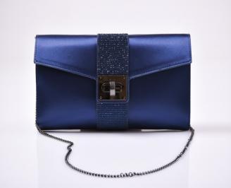 Абитуриентска чанта сатен синя SCMZ-26620