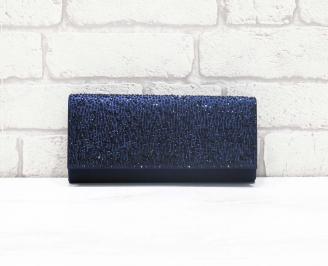 Абитуриентска чанта сатен синя JURG-26622