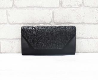 Абитуриентска чанта сатен/брокат черна GCOL-26628