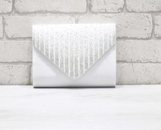 Абитуриентска чанта сатен бяла PHQI-26635