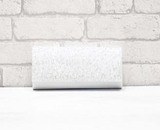 Абитуриентска чанта сатен бяла WITR-26636