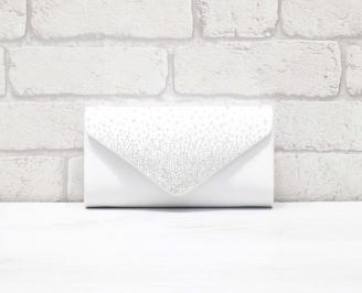 Абитуриентска чанта сатен бяла CVMB-26646