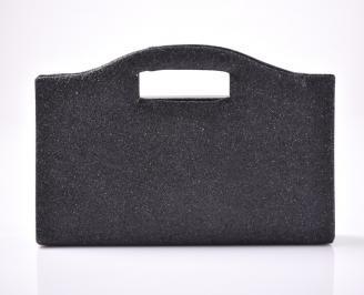 Абитуриентска чанта текстил/брокат черна ZPIS-1013405