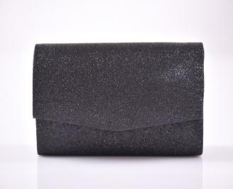 Абитуриентска чанта текстил ситен брокат черен XFTG-1013452