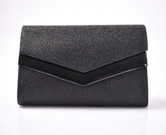 Абитуриентска чанта текстил ситен брокат черен MYLI-1013468