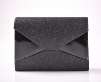 Абитуриентска чанта текстил ситен брокат черен XTSI-1013473
