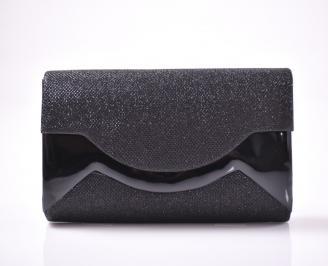 Абитуриентска чанта текстил ситен брокат черен IVYK-1013481