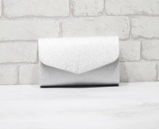 Абитуриентска чанта текстил сребриста MYIA-25909