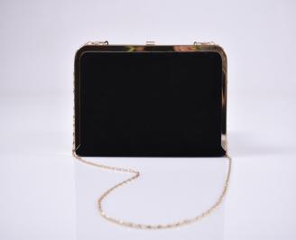 Абитуриентска чанта велур черна SYSL-1011219