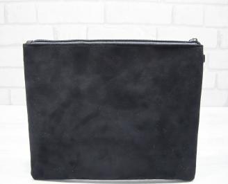 Абитуриентска чанта велур черна BPSR-22844
