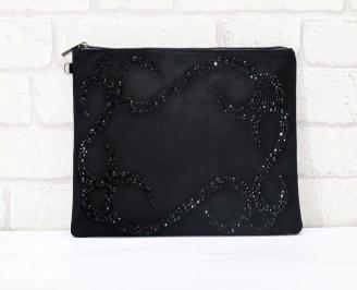 Абитуриентска чанта велур черна ACYE-26649