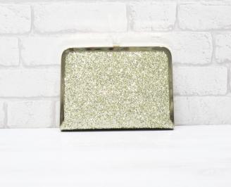 Абитуриентска чанта  златист сатен+камъни MNKO-23858