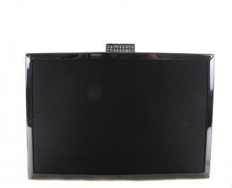 Бална чанта сатен черна QVXI-18608