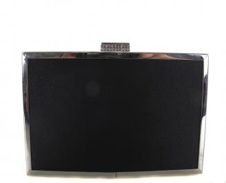 Бална чанта сатен черна NLIW-18613