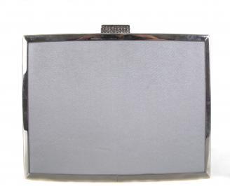 Бална чанта сатен сребриста ESFJ-18609