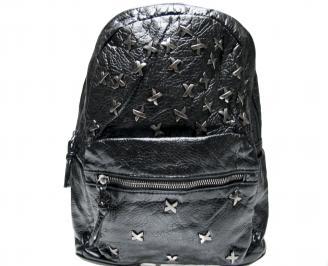Черна раница еко кожа HAQS-22552