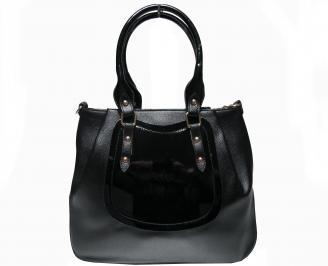 Дамска чанта черна еко кожа MRQW-22619