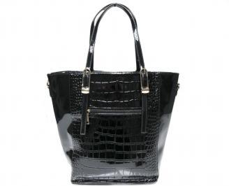 Дамска чанта черна еко кожа/лак LJRO-22632