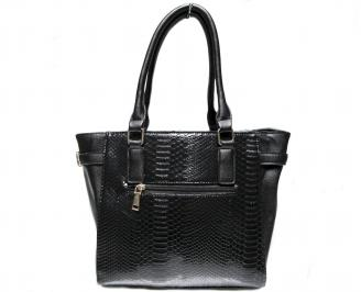 Дамска чанта черна еко кожа PLWA-22635