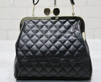 Дамска чанта черна еко кожа FWUT-23401