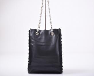 Дамска чанта еко кожа черна KZHE-1011932