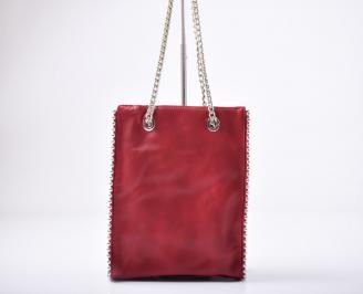 Дамска чанта еко кожа червена YJHV-1011933