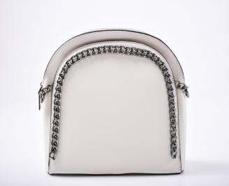 Дамска чанта еко кожа бежова OWBX-1011995