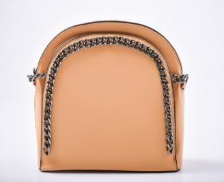 Дамска чанта еко кожа жълта FYQC-1011996