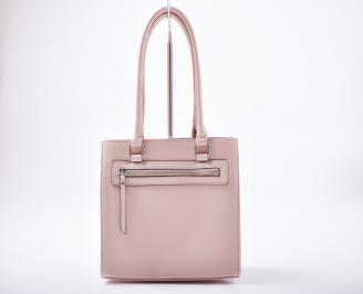 Дамска чанта еко кожа розова KGUS-1012000