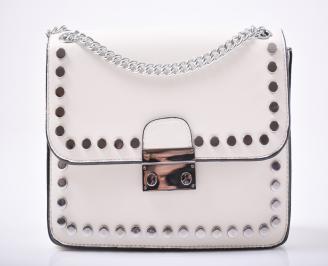 Дамска чанта еко кожа бежова MEDM-1012005