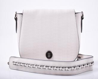 Дамска чанта еко кожа бежова HBMK-1012016