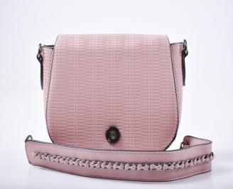 Дамска чанта еко кожа розова ZSYG-1012017