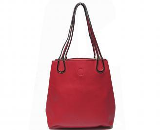 Дамска чанта еко кожа червена MNIA-20576
