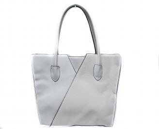 Дамска чанта еко кожа бяла QYOO-21297