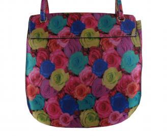 Дамска чанта еко кожа на цветя VBYK-21361