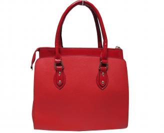 Дамска чанта еко кожа/лак  червена FPOV-21366